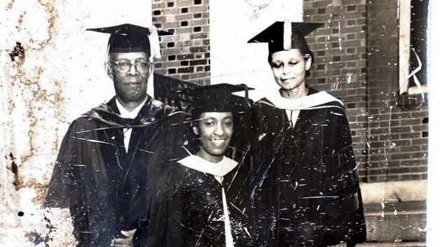 Hunter family at their daughter, Jean's, graduation from Virginia State University