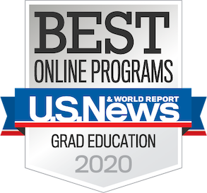 US News & World Report Best Online Programs Graduate Education Badge