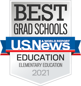 US News and World Report Best Grad School Elementary Education Badge for 2021