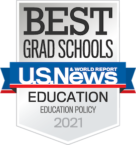 US News and World Report best grad school ed policy badge 2021