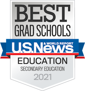 US News and World Report Best Grad School Secondary Education Badge 2021