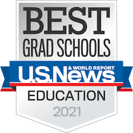 US News and World Report Badge for Best Grad School in Education in 2021