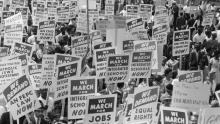 1960s Civil Rights Movement protest signs